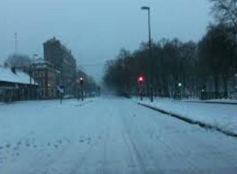 Neige à Lievin le dimanche