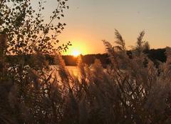 Ciel Manosque 04100 Coucher de soleil sur le lac des Vannades