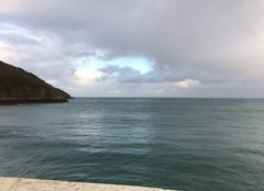 Ciel Lanloup 22580 Un peu de bleu dans le ciel gris - plage de Bréhec