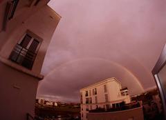 Ciel Angers 49000 Arcs en ciel sur le nord d'Angers