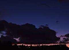 Nuages Montfermeil 93370 Masse nuageuse haut dessus de la ville
