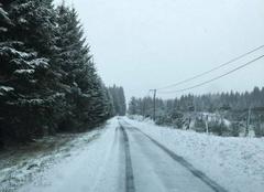 Neige Saint-Bonnet-le-Bourg 63630 Routes enneigées