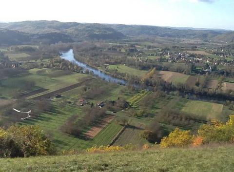 La Dordogne dans la plaine du Roc