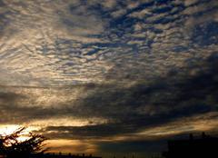 Ciel Niort 79000 Coucher de soleil de ce 16 novembre 2017