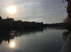 Ciel Romans-sur-Isere 26100 Après-midi automnale sur les quais d'Isère