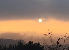 Ciel Massac-Seran 81500 Fin de journée d'automne à Massac-Séran Tarn