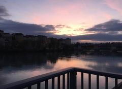 Ciel Romans-sur-Isere 26100 Crépuscule sur l'Isère