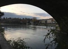 Ciel Bourg-de-Peage 26300 Quais d'Isère péageois en début de soirée