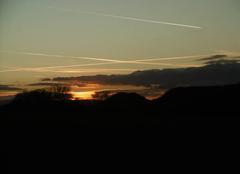 Ciel Griesheim-sur-Souffel 67370 Coucher de soleil sur les Vosges