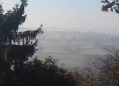 Brouillard Saint-Eusebe 71210 Brume matinale