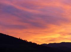 Ciel Tarare 69170 Coucher de soleil sur les lmonts du Lyonnais