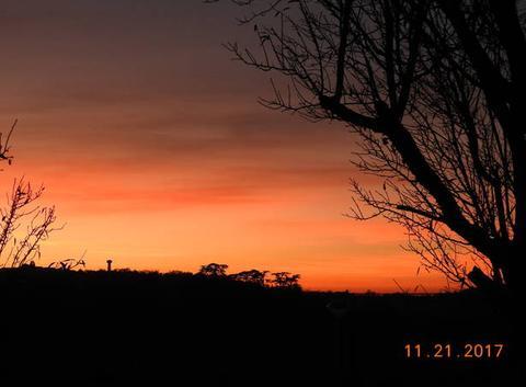 Encore un beau coucher de soleil.
