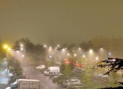 Ciel Niort 79000 Brouillard de nuit