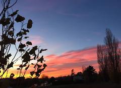 Ciel Mours-Saint-Eusebe 26540 Couleurs du ciel au couchant