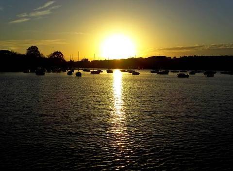 Coucher du soleil sur Port Jan à Carquefou