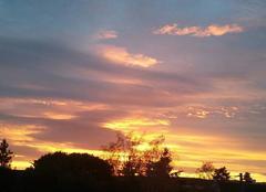 Ciel Commelle-Vernay 42120 Levé du soleils