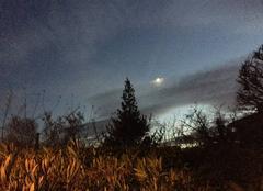Ciel Mours-Saint-Eusebe 26540 Lune masquée ce soir