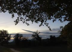 Ciel Mours-Saint-Eusebe 26540 Crépuscule en campagne