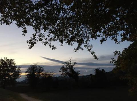 Crépuscule en campagne