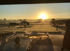 Froid Leojac 82230 Le soleil dans le froid matinal
