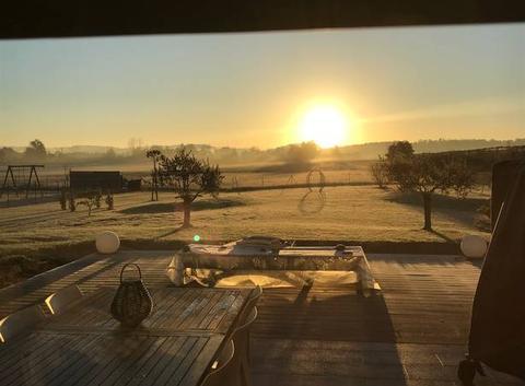 Le soleil dans le froid matinal