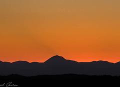 Ciel Saint-Clement 03250 Coucher de soleil sur Puy de Dôme