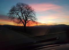 Ciel Foncine-le-Haut 39460 Coucher de soleil depuis la Suisse vu sur les Monts Jura