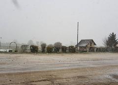 Neige Nitry 89310 Première neige dans l'Yonne