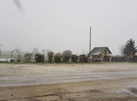 Première neige dans l'Yonne