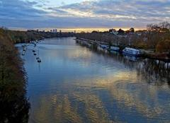 Ciel Nantes 44000 Vue du pont de la Jonelière à 16h50.