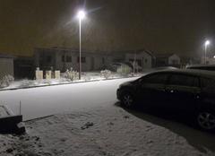 Neige Saint-Leger-sous-Cholet 49280 Grosse averse de neige à Saint-Léger-sous-Cholet vers 21h30