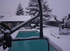 Neige Gerde 65200 La neige est bien là
