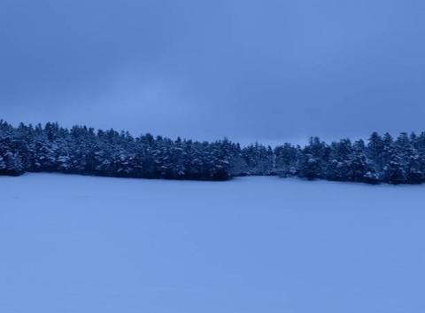 Jolis paysages blancs dans le Berthiand
