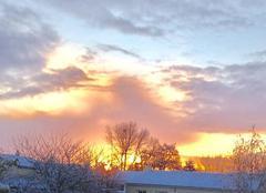 Ciel Nuaille 49340 Lever de soleil