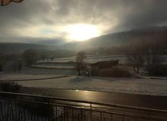 Neige Moncey 25870 Route de Rigney sous la neige