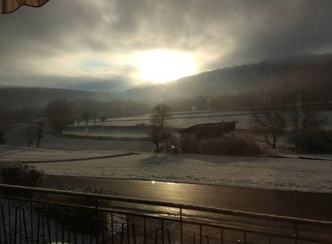 Route de Rigney sous la neige