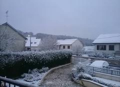 Neige Varennes-Vauzelles 58640 La neige quel jolie  paysage