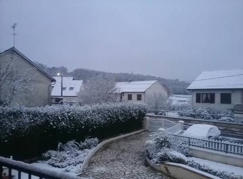 La neige quel jolie  paysage