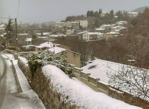 Premières neiges à Privas