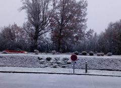 Neige Brive-la-Gaillarde 19100 La neige tombe