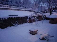 Neige Curgy 71400 1ère neige en Saône-et-Loire