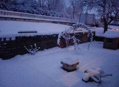 1ère neige en Saône-et-Loire