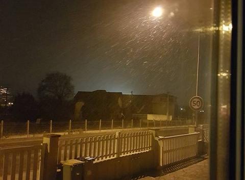 Neige à  Limoux (AUDE)