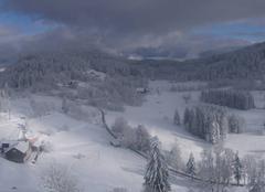 Neige Saulxures-sur-Moselotte 88290 Magnifique paysage des Hautes Vosges