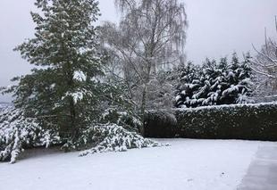 Neige Verneuil-sur-Vienne 87430 Première neige en limousin