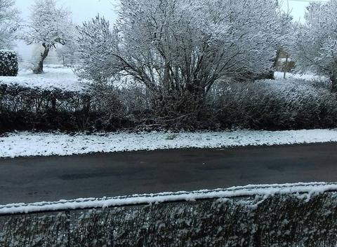 La nievre dans un beau manteau blanc