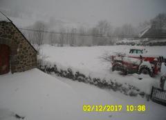 Neige Le Falgoux 15380 Tempète de neige à la Chaze du Falgoux