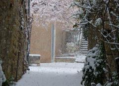 Neige Sainte-Euphemie-sur-Ouveze 26170 Neige dans le sud de la Drôme à Sainte euphémie sur Ouveze