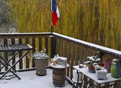 Neige Alairac 11290 Sous la neige le 2 décembre 2017