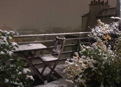 Neige Vincennes 94300 Premiers flocons de l?année